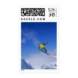 Snowboarding in Grizzly Gulch, Little Cottonwood Postage