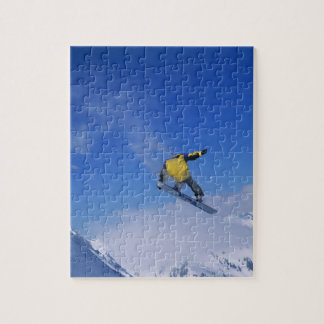 Snowboarding in Grizzly Gulch, Little Cottonwood Jigsaw Puzzles