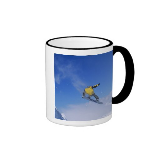 Snowboarding in Grizzly Gulch, Little Cottonwood Ringer Coffee Mug