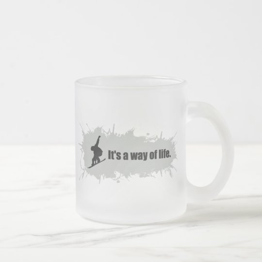 Snowboarding is a Way of Life Frosted Glass Coffee Mug