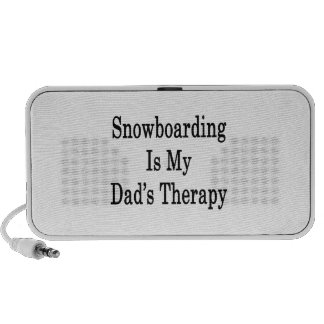 Snowboarding Is My Dad's Therapy Laptop Speakers