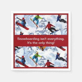 Snowboarding Isn't Everything Paper Napkin