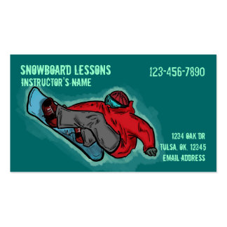 Snowboarding Lessons customizable business cards