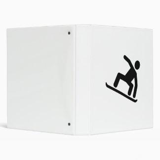 Snowboarding logo binder