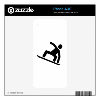 Snowboarding logo iPhone 4S decal