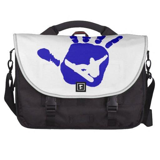 SNOWBOARDING MODEST BLUE BAG FOR LAPTOP