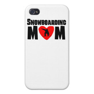 Snowboarding Mom iPhone 4/4S Covers