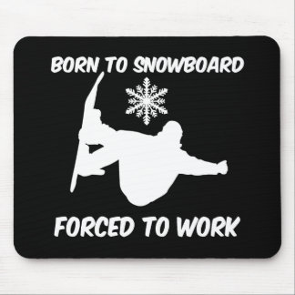 Snowboarding Mouse Pads
