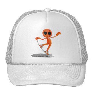 Snowboarding Orange Alien Hat