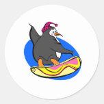 Snowboarding Penguin Sticker