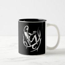 Snowboarding Penguin Two-Tone Coffee Mug