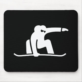Snowboarding Pictogram Mousepad