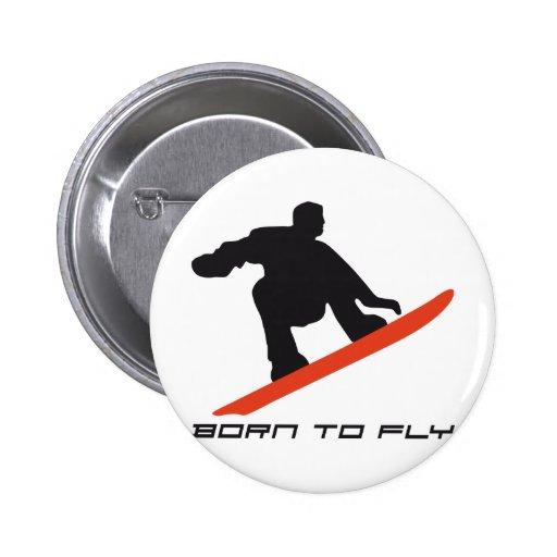 snowboarding pin redondo 5 cm