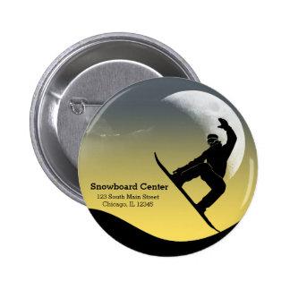 Snowboarding Pinback Button