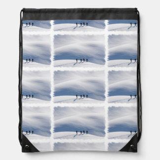 Snowboarding Drawstring Bag