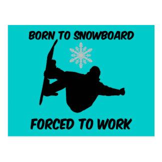 Snowboarding Post Card