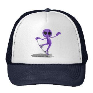 Snowboarding Purple Alien Hat