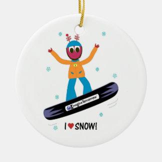 Snowboarding Puterbug Ornament