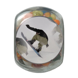 Snowboarding Rails Glass Jar