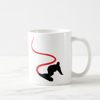 Snowboarding red Track Coffee Mug
