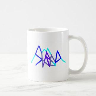 snowboarding shred2 blue mug