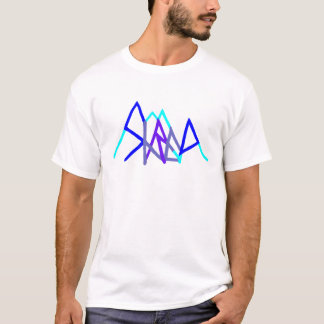 snowboarding shred2 blue T-Shirt