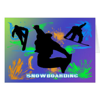 Snowboarding - Snowboarders Card