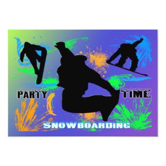 """Snowboarding - Snowboarders Invitation 5"""" X 7"""" Invitation Card"""