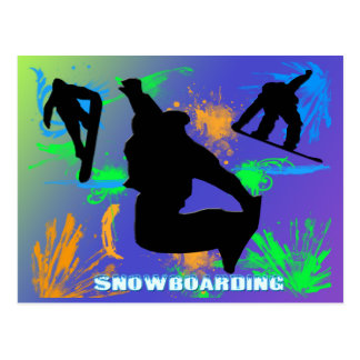 Snowboarding - Snowboarders Postcard