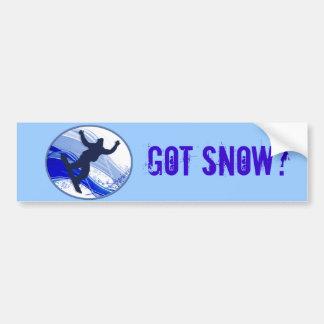 Snowboarding & Snowflakes Bumper Sticker