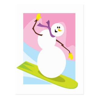 Snowboarding Snowman Postcards
