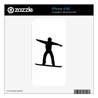 Snowboarding sports decals for the iPhone 4