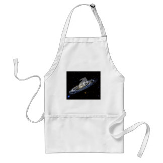 Snowboarding the Andromeda Galaxy. Adult Apron