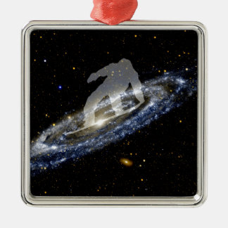 Snowboarding the Andromeda Galaxy. Metal Ornament