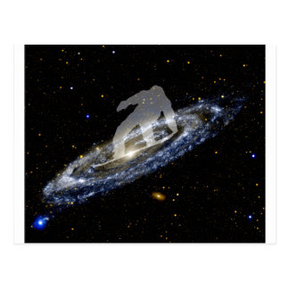 Snowboarding the Andromeda Galaxy. Postcard