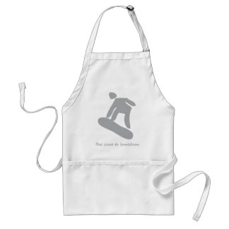 Snowboarding.........the cure to boredom adult apron