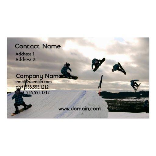 Snowboarding Tricks Business Card