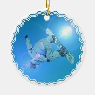 Snowboarding Tricks Picture Ornament