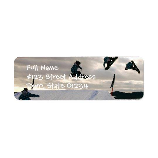 Snowboarding Tricks Return Address Label