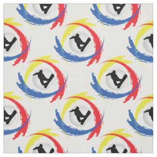 Snowboarding Tricolor Emblem Fabric