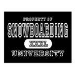 Snowboarding University Dark Postcards