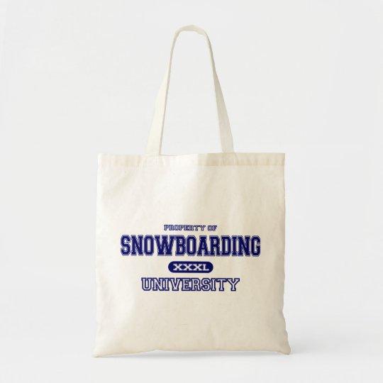 Snowboarding University Tote Bag