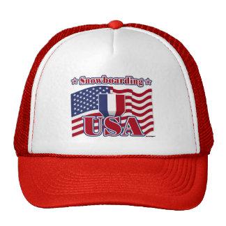 Snowboarding USA Hats