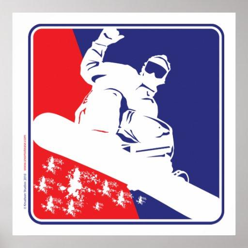 Snowboarding/USA Print