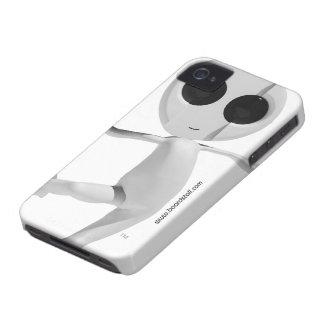 Snowboarding White Alien Blackberry Bold Case