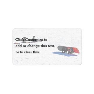 Snowboards On Snow Address Label