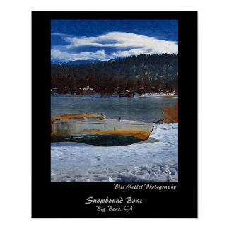 Snowbound Boat Posters