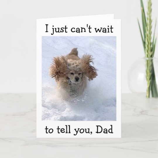 Snowbound Comedic Dog For Dads Birthday Card Zazzle