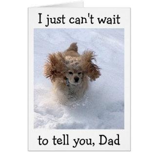 **SNOWBOUND COMEDIC DOG** FOR DAD'S BIRTHDAY CARD