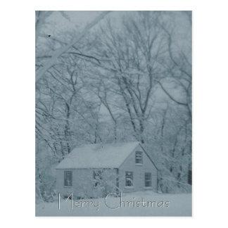 Snowbound Cottage Postcard